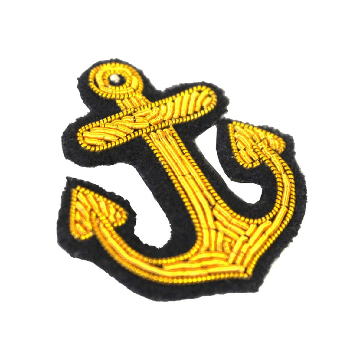 Gold Anchor Embroidered Patch