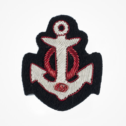 Silver red Circle anchor