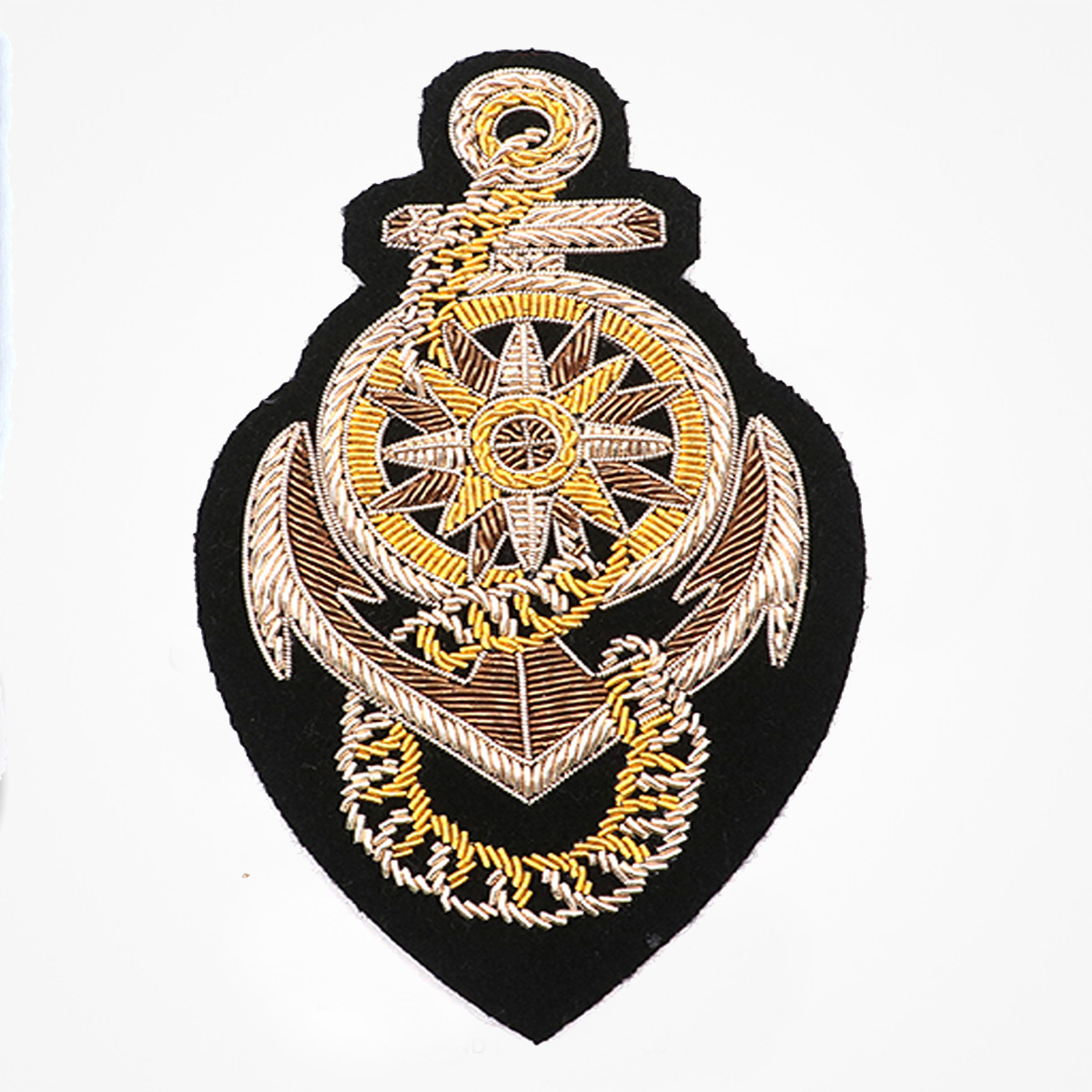 Blazer Patch Emblem Hand embroidered rope design and border in finest gold bullion with club insignia in colours - Fashionable 3D embroidered look Made by skilled artisans Bullion wire and silk thread hand Stitched on Black color Felt Available in gold and silver colors Size = 130 mm height 75 mm width sew-on backing: Perfect for caps, sports jacket, leather jackets, blazer coat, Blazer Pocket, shirts uniforms, Accessories and many More Pin backing: easy to removable , insignia of club members and officer with trefoil and insignia of rank 5