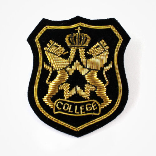 college embroidered patch for blazer pocket