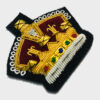 Crown Bullion Embroidered Blazer Crest Patch - Fashionable 3D embroidered Crown CrestMade by skilled artisansBullion wire hand Stitched on Black colour FeltSize is approx 2x2 inchessew-on backing only 2
